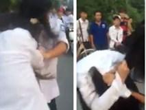 Nữ sinh giật tóc đánh nhau giữa đường chỉ vì ghen