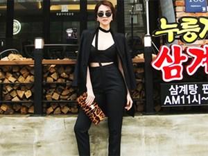 """Ngọc Trinh tự tin """"đánh bật"""" gái Hàn khi dạo phố Seoul"""