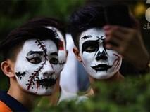 Giới trẻ Hà thành hào hứng với lễ hội hóa trang rùng rợn đón chào Halloween