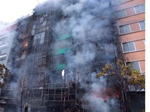 Cháy lớn dãy nhà hàng, karaoke trên phố Trần Thái Tông: 13 người tử vong