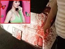 """Khánh My bị kẻ lạ mặt ném sơn đỏ như máu """"cảnh cáo"""" lên xe ô tô"""