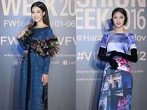 Hoa hậu Mỹ Linh, Thanh Tú 'chinh phục' thảm đỏ Vietnam International Fashion Week ngày 2