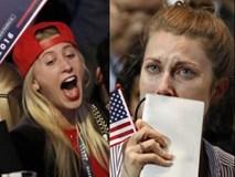 Những tiếng reo hò và nước mắt ở thành trì của Trump và Clinton