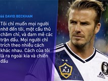 Beckham không trở thành huyền thoại nhờ vẻ ngoài soái ca