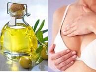Trộn dầu oliu với mật ong rồi thoa lên, ngực cứ thế nở nang, căng đầy
