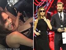 Sau 17 năm bên nhau, Victoria vẫn cười thú vị khoe vòng 3 của Beckham