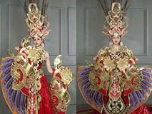 """Quốc phục 45 kg """"gây choáng"""" của Khả Trang tại Hoa hậu Siêu quốc gia"""