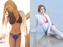 Mỹ nhân Việt nóng bỏng cực độ vì mặc sơ mi trắng ướt sũng đi bơi