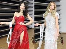 Khả Trang rạng rỡ đọ váy xẻ tà tại Hoa hậu Siêu quốc gia