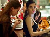 """Choáng với những bữa ăn đời thực có khi """"dát vàng"""" của Hà Hồ"""