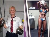 Ai mà ngờ được nữ tiếp viên hàng không xinh đẹp này lại là lực sĩ thể hình cuồn cuộn cơ bắp