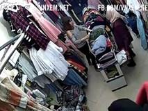 Xôn xao clip bà lão U70 vào cửa hàng thời trang trộm quần áo
