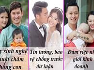 Vợ sao nam Việt đã làm gì để 'trói' trái tim của những ông chồng gắn mác đào hoa?
