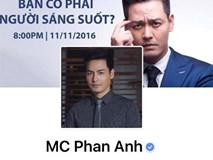 MC Phan Anh đã mở lại Facebook sau khi phát hiện có kẻ xấu chiếm quyền sử dụng