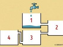 Đảm bảo 90% sẽ bó tay không biết bình nào đầy nước đầu tiên