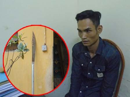 Giết vợ rồi dùng đao dài 2m lên sân thượng cố thủ