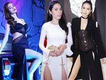 Những chiếc váy xẻ sâu khiến fan vừa ngắm vừa lo của sao Việt