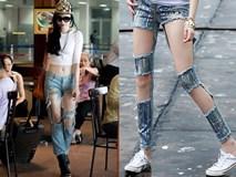 """""""Mắt tròn mắt dẹt"""" không hiểu vì sao những kiểu quần jeans này lại trở thành mốt!"""