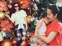 Mẹ con Tăng Thanh Hà hào hứng chuẩn bị Noel, Vân Hugo đếm ngược chờ Giáng sinh