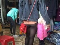 Mặc quần mỏng tang lộ nội y vô tư dạo phố, cô gái trẻ bị chê tơi bời