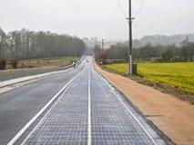 Đường phủ pin năng lượng mặt trời đầu tiên thế giới