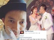 Đây chính là những gì Tiến Đạt viết trên facebook khi đám cưới Hari Won đang diễn ra