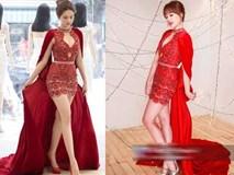 Vừa đám cưới xong, Hari Won đã đụng váy với Ngọc Trinh