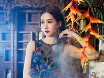 Hoa hậu Đặng Thu Thảo bay bổng khi diện váy hoa