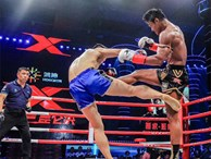 """'Thánh Muay Thái' đánh võ sĩ Trung Quốc """"lăn như bi"""" ngay trên đất khách"""