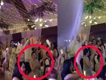 Tăng Thanh Hà lộ rõ bụng bầu trong đám cưới thượng lưu của chị chồng