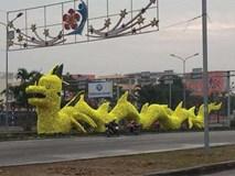 Tháo gỡ hoa vàng trên hình rồng gây tranh cãi ở Hải Phòng