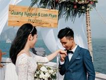 Đám cưới lãng mạn trên du thuyền ở vịnh Hạ Long khiến nhiều người ghen tỵ