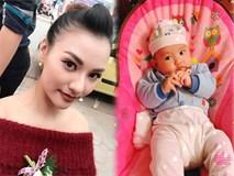 Đây là ảnh con gái Hồng Quế khi mới sinh mà cô giấu suốt thời gian qua