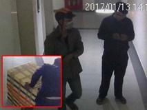 Camera ghi hình nghi phạm kéo thùng xốp chứa thi thể nữ sinh ở hành lang chung cư Hà Đô