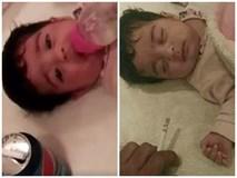 Em bé sơ sinh bị chính bố ruột tát tai, bịt miệng, ép ăn sữa pha Pepsi gây phẫn nộ