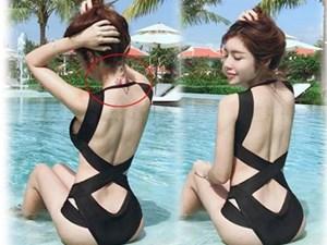 Elly Trần để lộ hình xăm đặc biệt khi mặc áo tắm