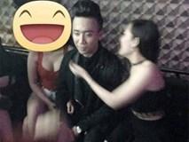 Lộ ảnh Trấn Thành trong quán karaoke với 2 chân dài hở bạo
