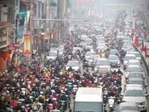 Clip: Người dân thủ đô chật vật trên đường những ngày giáp Tết