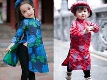 Khi các bé xúng xính trong tà áo dài ngày Tết, mẹ như thấy cả mùa xuân