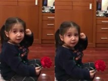 Cô bé vừa khóc, vừa nhại tiếng mẹ hút triệu view