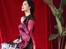 Ngắm bà mẹ một con Dương Cẩm Lynh đẹp hút hồn với áo dài truyền thống độc đáo