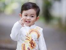 Con trai Khánh Thi đáng yêu khi diện áo dài