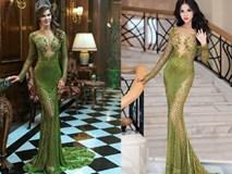 Sao Việt chẳng hề thua kém tân Hoa hậu Hoàn vũ khi đụng hàng