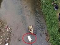 Thi thể người đàn ông nhét trong bao tải trôi trên suối