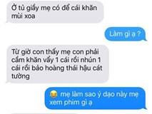 """Hot nhất Facebook: Chùm tin nhắn với con trai của bà mẹ Việt """"bá đạo"""" nhất trái đất!"""