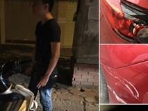 """Thanh niên say rượu """"quyết tâm"""" chờ chủ chiếc xe bị đâm để xin lỗi và đền tiền"""