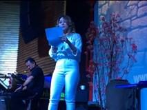 Mỹ Tâm bối rối hát 'Phía sau một cô gái' cực đáng yêu