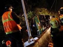 Xe ngắm hoa anh đào lật ở Đài Loan, 32 người thiệt mạng