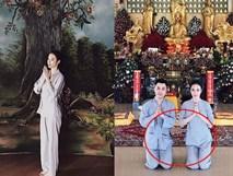 Dù đã mặc rất kín đáo đi chùa nhưng Angela Phương Trinh vẫn bị phát hiện một điểm bất thường gây choáng