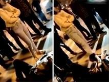 Sau khi gây tai nạn và giở thói côn đồ, nữ tài xế ngang nhiên lái xe đi mất
